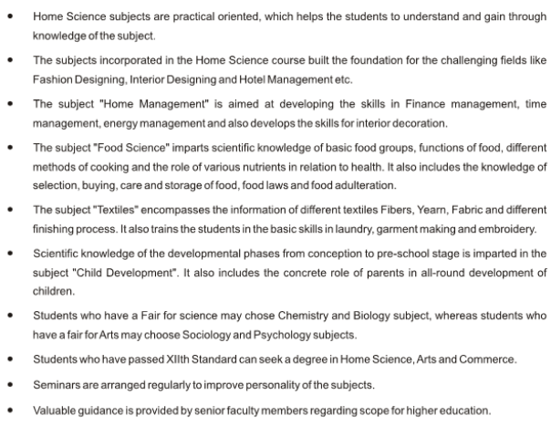 Junior College | Job Opportunities (Home Science) – SMRK-BK