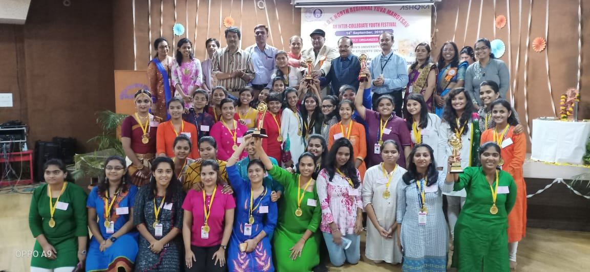 The College Bagged Over All Championship Trophy At North Regional Youth Festival Of Sndt Women S University Music Dance Theatre Smrk Bk Ak Mahila Mahavidyalaya